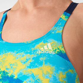 adidas Perf Swim Inf+ Swimsuit Women semi solar yellow/ice yellowicey blue